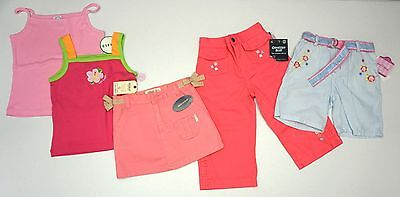 NWT LOT OF 5 ITEMS Oshkosh Disney Princess Girls 6 Blue Pink Tank Shorts Skirt