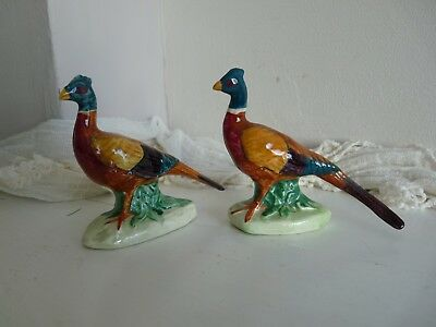Beswick cock pheasants 1st version curved tail &2nd straight tale. Both Mint.