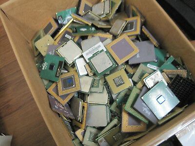 14.055LBs Mixed Brands Lot CPU Processor for Scrap GOLD Recovery