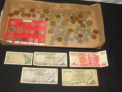Old Coins Currency Foreign Non U.s Coin Collection Lire Francs Peso Centavo+