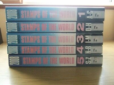 💥 VERY GOOD CONDITION STANLEY GIBBONS STAMPS of the WORLD 2008 - 5 Vol SET💥