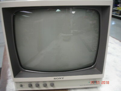 SONY Black and White  Monitor SSM-121 Working Old School