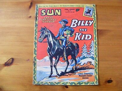 1954 SUN Weekly- Billy the Kid dated Dec 25th 1954, in ok condition - number 307