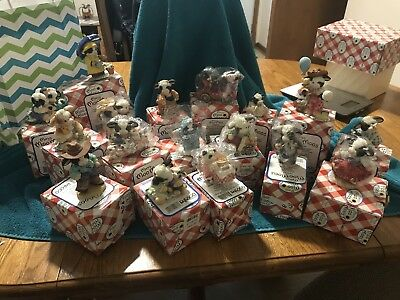 Lot Of 17 Marys Moo Moos Collectible Figurines