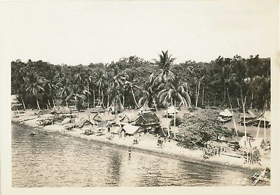 WWII 1940s US Army 40th Inf Photo #122 village from air New Britain