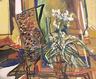 Derrick Latimer Sayer (1917-1992) Large Signed Painting 1981 Abstract Still Life