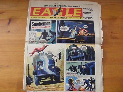 1967 Eagle Comic - 20th May 1967 in ok condition front cover ripped