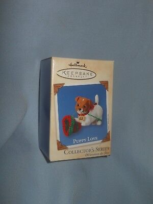 Hallmark Ornament Puppy Love 2002  Jack Russell 12th in Series