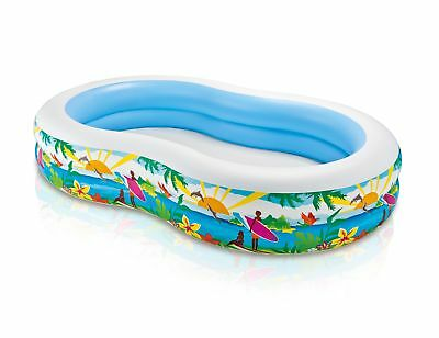 Intex Swim Center Inflatable Paradise Seaside Kids Swimming Pool 56490EP