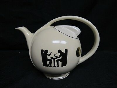 Rare Hall China Limited Edition Silhouette Teapot Art Deco- Only 500 Made! G556