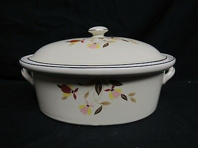 Rare Hall China 1991 Autumn Leaf Large Oval Cover Casserole Limited Edition Y269