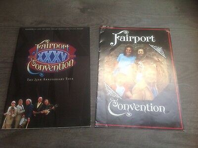 Two Fairport Tour Concert Programs