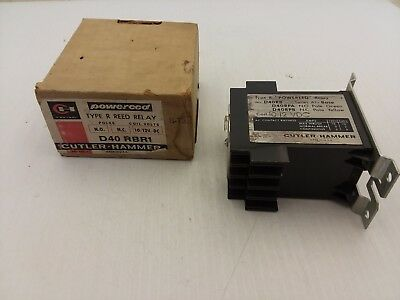 Cutler Hammer D40Rbr1 Reed Relay Type R 10/12Vdc Series A1 Nib
