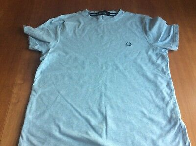 Fred Perry Light Blue Boys T Shirt Size YL Approx 12 To 13 Years