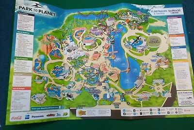 SEAWORLD ORLANDO FLORIDA 2018 Theme Park Map - Roller ...