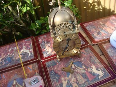 Brass Lantern Smith Timepiece Escapement Mantle Clock With Key for repair