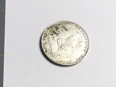 GERMANY THIRD REICH 1939-J 2 Mark silver coin nice condition, spots, cleaned