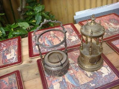 Vintage  BREVETE  French Cage  Clock movement  For Restoration  Spare Or repair