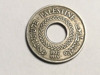 PALESTINE 1927 5 Mil coin nice condition