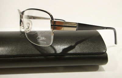 6a470408535 Cazal 7035 Eyeglasses Titanium Frames 001 Shiny Black Silver Authentic New