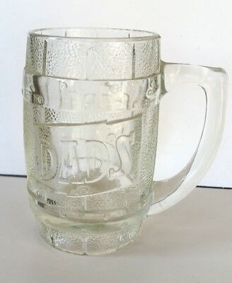 1950's Dad's Root Beer, Heavy Barell Shape,  Glass Mug, Excellent Condition
