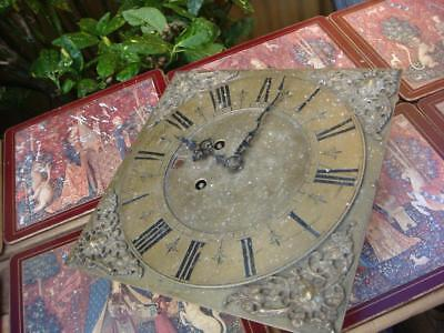 Vintage Clock  Dial With Movement  For Longcase For Restoration  Spare Or repair