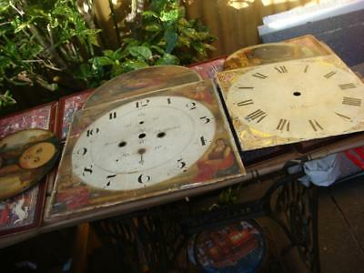 Vintage Clock  Dial For Longcase For Restoration  Spare Or repair