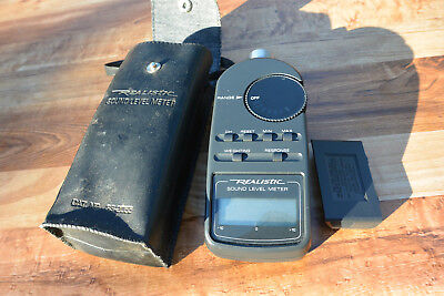 Radio Shack Digital Sound Level Meter 33-2055 with Case