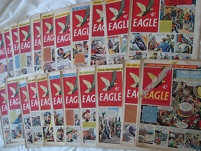 22 x Eagle Comic Vol 7 (1956) including Christmas Issue