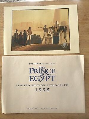 The Prince Of Egypt Lithogram Limited Edition 1998
