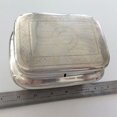 ANTIQUE ORNATE STERLING SILVER TEA CADDY BOX AS IS NO LOCK KEY No MARKING 358g