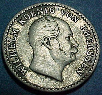 Germany German States - Prussia - 1863A - 2 1/2 Silber Groschen -Nice Old Silver