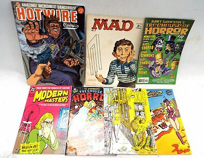 7x Assorted Graphic Comics Humour And Horror - S86