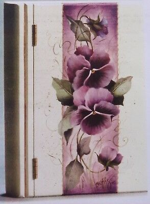 "Dorothy Whisenhunt tole painting pattern ""Deep Burgundy/Dusty Rose Pansies"""