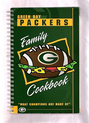 """Green Bay Packers 1998 Family Cookbook """"what Champions Are Made Of"""" Wisconsin"""