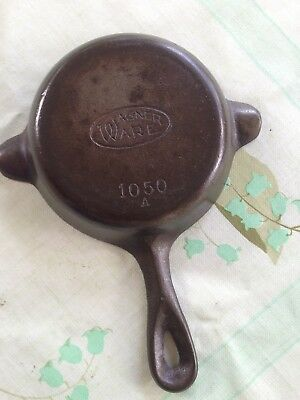 Antique Wagner Ware Cast Iron 1050 A Miniature Ashtray Frying Pan