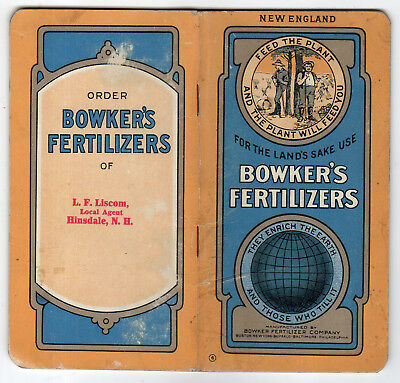 Vintage Bowker's Fertilizer Booklet, Feed The Plant And The Plant Will Feed You