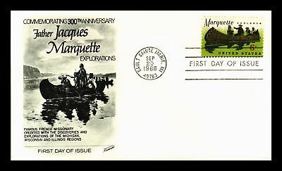 Dr Jim Stamps Us Father Jacques Marquette 300 Years First Day Cover 1968