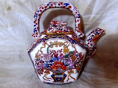 OLD ORIENTAL CHINESE or JAPANESE TEAPOT Famile Rose