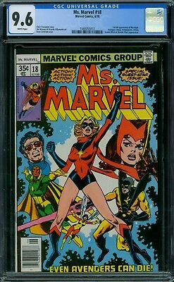 Ms. Marvel 18 CGC 9.6 - No Reserve Auction - 1st Mystique