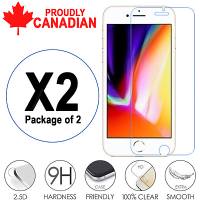 Premium Tempered Glass Screen Protector Fit For iPhone 7 & iPhone 8 (2 PACK)