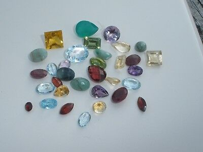 Natural Gemstone Mixed Faceted Loose Parcel Lot 26 Total Carats