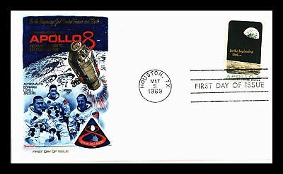 Dr Jim Stamps Us Apollo 8 Space First Day Cover Houston Texas 1969