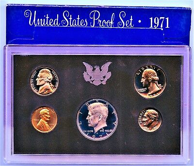 1971 S (1) One Set = *5*  Proof Coins Original Mint Packaging