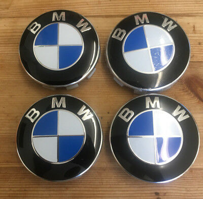 Bmw 1M Series Cars 68Mm Alloy Centre Wheel Caps Original Blue