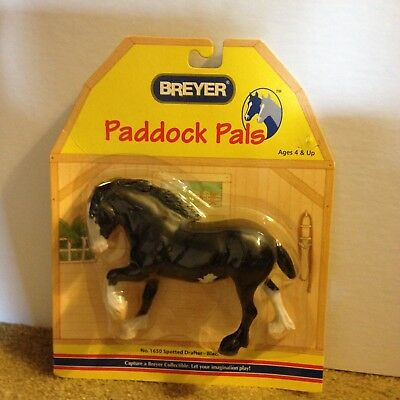 Breyer Horse Paddock Pals - Spotted Drafter Black - In Box - New