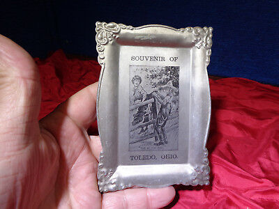 Antique Embossed Etched Aluminum Advertising Tin *tip Tray** #3
