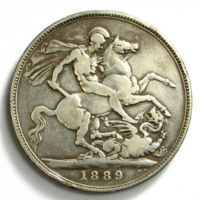 1889 Great Britain Crown of Victoria - KM#765 Sterling Silver