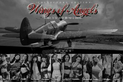 Wings of Angels Pin Up Tribute Print Malak