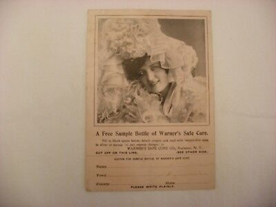 Vtg Antique Pharmacy & Medical Advertising Warner's Safe Cure